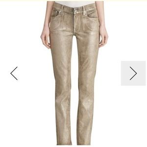 Ralph Lauren Collection Metallic Skinny Jeans